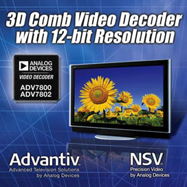 High-performance video decoder with NTSC/PAL 3d COMB filter